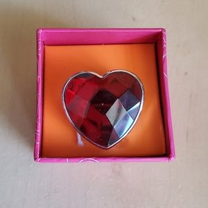 Heart Red Watch Ring